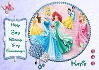 personalised birthday card DISNEY PRINCESS daughter grandaughter Niece sister ko