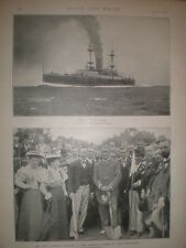Printed photo Cecil Rhodes opens Bowling Green Port Elizabeth South Africa 1897