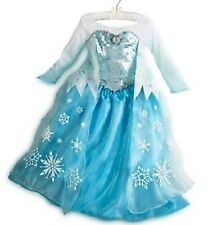 Brand New Disney Store Frozen Princess Elsa Costume Dress Icicles Gown Size 5 6