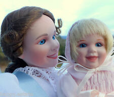 MOTHER & BABY PORCELAIN DOLLS, 1st TREASURED TOGETHERNESS Tender Touch VICTORIAN