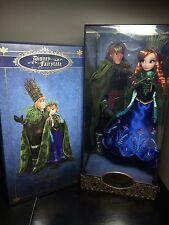 Limited Edition Designer Kristoff and Anna Frozen Disneystore Dolls