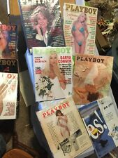 Playboy Magazine Lot of 10 Some Damage, minimal to heavy- ALL HAVE CENTERFOLDS