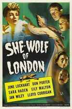 She Wolf Of London Poster 01 Metal Sign A4 12x8 Aluminium