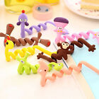 2pcs Cute Animal Organizer USB Cable Holder Earphone Wrap Wire Winder Cord New