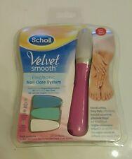 Scholl Velvet Smooth electronic sistema de cuidado de las uñas, 3 CABEZAS INTERCAMBIABLES ROSA