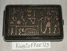 Metal hard case antique Gold Hieroglyphics NEW in package for 510 E-cig