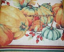 THANKSGIVING PUMPKIN TABLECLOTH HARVEST AUTUMN FRUITS BENSON OBLONG 60X84 NEW