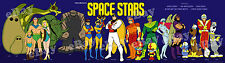 EXTRA LARGE! SPACE STARS Panoramic Print HANNA BARBERA Space Ghost HERCULOIDS