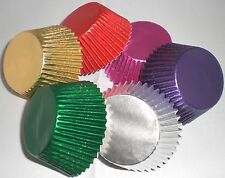 144 (24 EACH) ASSORTED COLOURS  FOIL CUPCAKE / MUFFIN BAKING CASES