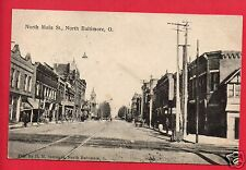 NORTH BALTIMORE OH OHIO N MAIN STREET SOMMERS  KISSABERTH BASCOM 1908  POSTCARD