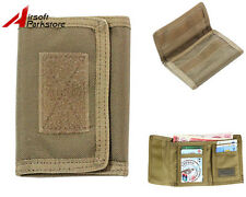 1000D Mens Tactical Outdoor Military Trifold Wallet ID Card Holder Coyote Brown