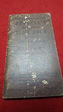 1947-1948 SADDLER'S RAILROAD TIME BOOK FOR ENGINEERS AND FIREMAN