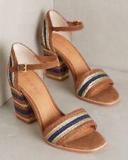 NEW Anthropologie Lien.do Seychelles Gliding Stripe Sandals Size 6.5 Brown