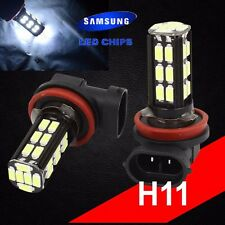 H11 Samsung Chip LED 30 SMD Super White 6000K Headlight 2 x Light Bulb Low Beam