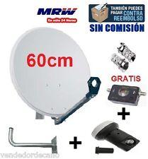 ANTENA PARABOLICA 60CM + LNB SHARP HD 3D READY + SOPORTE + LOCALIZADOR