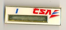 1990s CSA Czech Airlines Cabin Crew Stewardess Name Badge Class I Obsolete