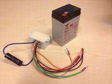 Laderegler + Blinkrelais ULO-Box Ersatz neues Modell 2015 + Blei-Gel-Akku 6V 4AH