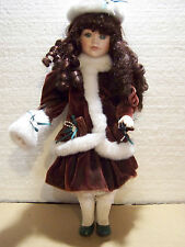 """The Brass Key Collection Porcelain Doll 16"""""""