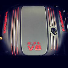 5.7L V8 HEMI Engine Cover Decal Kit 2009-2016 Challenger Charger (Any Color)