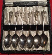Vintage Set Of 6 Old Scout Spoons With Fleur De Lis Badge 1950/60's