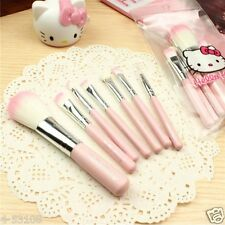 7pcs/sets Hello Kitty KT Lovely cartoon Pink Makeup brush With Packaging bag