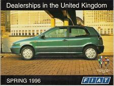 Fiat Dealer List Spring 1996 UK Market Brochure Bravo
