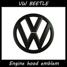 VW Beetle parts front emblem Badge symbol Logo Black Glossy Engine hood emblem