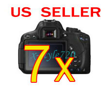 7x Canon EOS 650D Rebel T4i Clear LCD Screen Protector Guard Shield Film