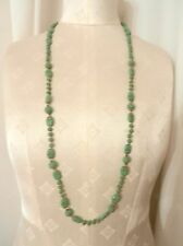 Art Deco Neiger Egyptian Revival Green Glass Scarab Necklace