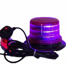 "PURPLE 4"" Beacon Light Forklift Strobe Flashing Funeral Emergency Warning Beacon"