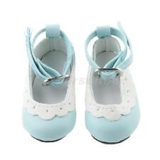 Flat Ankle Strap Shoes for 1/4 BJD Dolls Clothing Accessories Light Blue