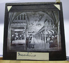 c1900 MASOLINO Painting - BANCHETTO di ERODE Glass Lantern Slide