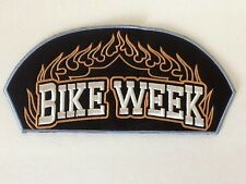 Medium BIKE WEEK Biker PATCH Richly EMBROIDERED