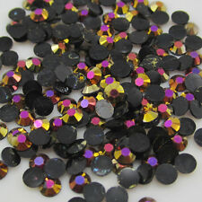 NEW 800pcs 3mm Jelly drill beads flat back Scrapbooking for crafts Black Color #