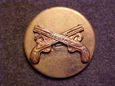 OLD US ARMY MP MILITARY POLICE BRASS SCREWBACK COLLAR DISK MARKED MEYER NEW YORK