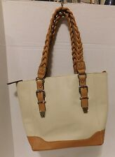 Apt 9 Beige & Tan Travel Tote Handbag