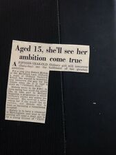 G2-1 Ephemera 1953 Article Oldbury Girl Mahala Bishop Reads Children's Hour Bbc
