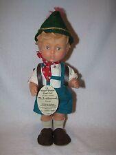 """11"""" Vinyl Goebel Hummel Little Boy Doll With Back Pack"""