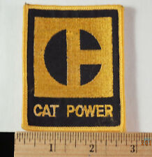 Vintage CAT Caterpillar Diesel Power Heavy Equipment Trucker Embroidered Patch