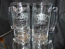 2016 NHL SPECIAL EDITION WINTER CLASSIC BOSTON BRUINS (2) ETCHED 25oz GLASS MUGS