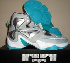 NEW NIKE LEBRON JAMES 13 XIII 14 GREY BLUE LAGOON WHITE NBA BASKETBALL SHOES 10