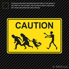 Caution Zombies Sticker Die Cut Decal immigration immigrant sign zombie crossing