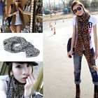 Fashion Women Ladies Animal Leopard Print Soft Chiffon Scarf Shawl Wrap Stole