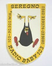 ADESIVO RADIO Vecchio/ Sticker /Autocollant_ RADIO BABY 103 SEREGNO (cm 8 x 12)