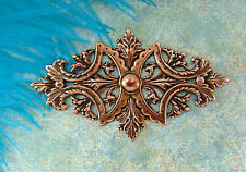 ANTIQUE COPPER Art Nouveau Leaf Stamping ~ Ornament Jewelry Findings (FC-4)