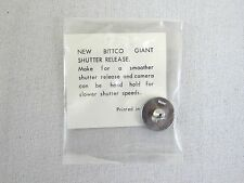 Vintage Bittco Giant Shutter Release Button - Chrome Japan Leica Nikon Canon