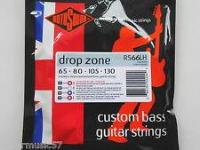 Rotosound RS66LH Drop Zone Stainless Steel Long Scale Bass Strings 65-130