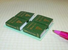 Miniature HUNTER GREEN MEDICAL Reference Books, DOLLHOUSE Miniatures 1/12 Scale