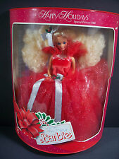 NIB BARBIE DOLL 1988 VINTGAE HAPPY HOLIDAYS