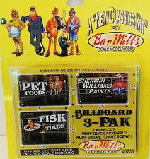 CLASSIC ROOFTOP BILLBOARD KITS -3-PAK BY BAR MILLS HO/N-SCALE-WOOD SUPPORTS #233